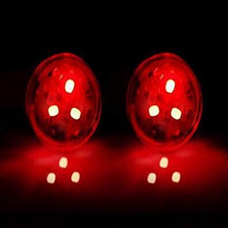 Qiyun Finto Allarme per Auto a LED, Adesivo, con Batteria, Senza Fili, Luce intermittente a LED, LED Lampada di Avvertimento di Emergenza Rosso