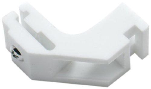 Bulk Hardware BH01576 Curtain Rail Brackets for Whiteline Harrison Curtain Track Glider Rail Slide White Nylon - Pack of 6