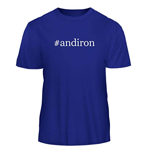 Tracy Gifts #Andiron - Hashtag Nice Men's Short Sleeve T-Shirt, Blue, Large