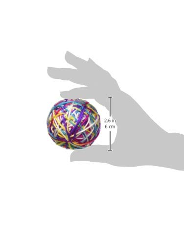 Pet Craft Supply Yowlin Yarn Multi Color Yarn Balls with Rattle Cat Toys