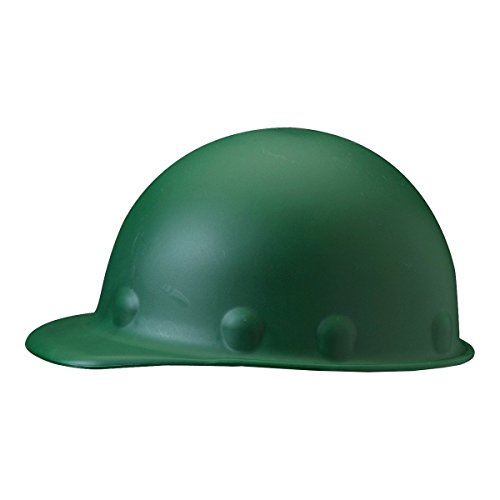 Fibre-Metal Hard Hat P2AW74A000 Green Roughneck Fiberglass Cap Style Hard Hat with Tab Lok Super Eight 8 Point Pinlock Suspension, 9