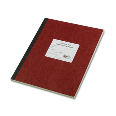 National® Brand - Computation Book, Quadrille Rule, 9-1/4 x 11-3/4, Green, 75 Sheets/Pad - Sold As 1 Each - Eye-Ease® green paper.