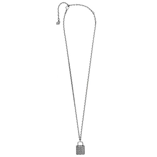 Swarovski Case 5120620 Padlock Design Pendant w Clear Crystal Pave Necklace