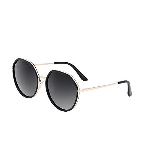 Gafas Ojo sol Cara De Vista Gafas de Redonda BSNOWF 1 3 Mujer Vintage Color Polarizadas Luz Larga UV Anti 8Of5qgA4f
