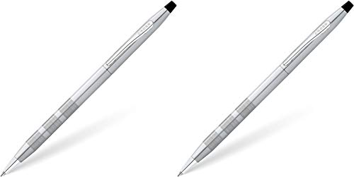 Cross Classic Century Satin Chrome Ballpoint Pen 2 Pack