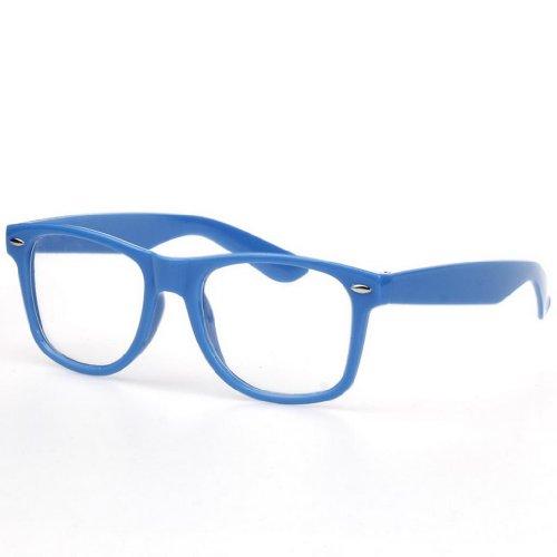 Bigood Retro Vintage Clear Lens Frame Wayfarer Trendy Nerd Geek Glasses - Geek Online Glasses
