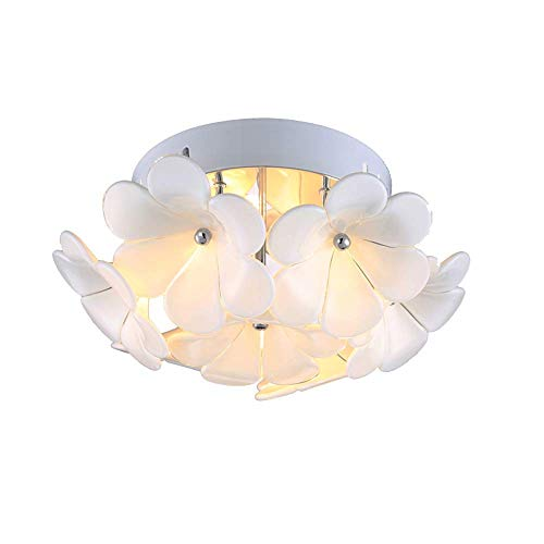 Wsxxn Petal Warm Ceiling Lamp Modern Minimalist Rustic Style Chandelier Aisle Lights Porch Glass Flower Shade Lights Home Balcony Lights Small Bedroom Coat Cap Lamps Wall - Flower Petal Sconce Shade
