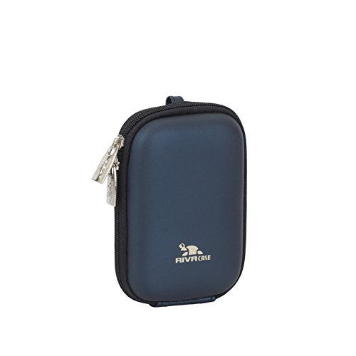 RivaCase 7022 PU Compact Case for Point and Shoot Digital Camera - Dark Blue