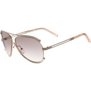 Chloe Women's Isidora Rose Gold/Peach Sunglasses