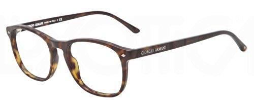 Giorgio Armani Montures de lunettes 7003 Pour Homme Matte Black, 50mm Havana