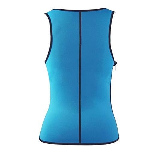 DAVITU Plus Size Men Women Neoprene Sweat Vest Waist Training Sport Hot Shapers Corset Slimming Product - (Color: Man, Size: Large)