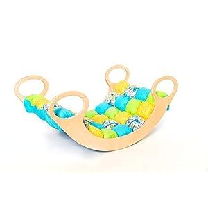 Child Rocking Chair, Wooden Rainbow Rocker,Wooden Rocking Play, Wood Rocking Chair for Kid 0-5 Years, Indoor/Universal…