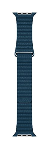 Apple 42mm Leather Loop - Large Smartwatch Replacement Band for Watch Series 1, Watch Series 2, Watch Series 3 - Cosmos - Blue Cosmo