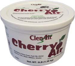 ClenAir Manufacturing Inc. 1801 1lb Tub Cherry Scent Odor Neutralizer Gel by clenair