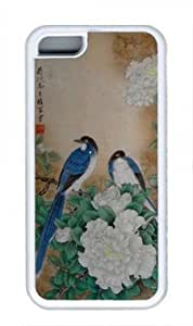 Cute bird POP Custom Rubber(TPU) white Case for Masterpiece Limited Design ipod touch 5 ipod touch 5 by Cases & Mousepads