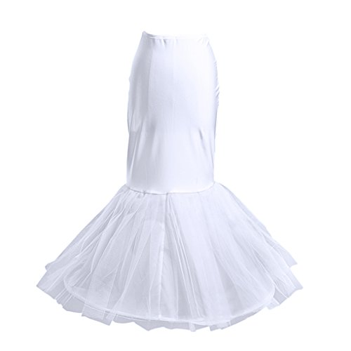 A FakeFace Petticoat With Hoop Donna Sottoveste Mermaid Gonna CqwgHxR