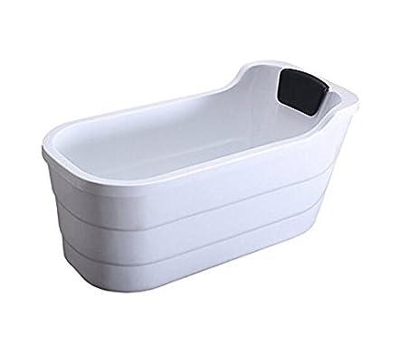 Freestanding Acrylic Bathtub Adult Bath Narrow Tub Double Insulated Small  Bathroom Bathtub (1.1 M