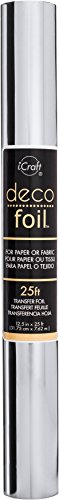 iCraft Deco Foil Value Roll, 12.5 inches x 25 feet, (Silver)