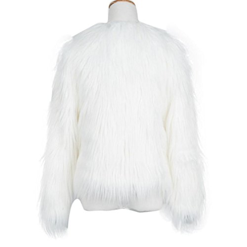 Abrigo Abrigo para Blanco Invierno de Sintética Mujer Cálida para Parka Fox Piel Mujer de KaloryWee PxqdSwB7P