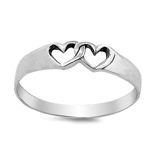 Hearts Cute Jewelry Gift for Women in Gift Box Glitzs Jewels 925 Sterling Silver Ring