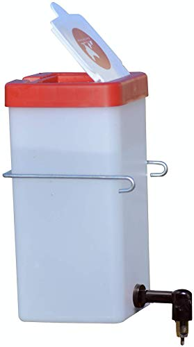 32 oz No Drip Small Animal Water Bottle. BPA Free. Best Water Bottle for Small Pet/Bunny/Ferret/Hamster/Guinea Pig/Rabbit. Red or Green Lid Randomly