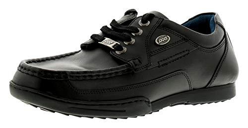 Panter Garçon Plus Cuir École UK 6 Noir Chaussures 12 Vieux Tailles Noir Pod qd1wCq