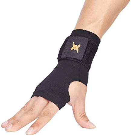 Wrist Sprains Wrist Brace Sleeve for Men and Women by Copper Compression Gear Support Recovery Cubital Tunnel RSI Arthritis 1 Sleeve - Fits Both Hands Tendonitis Relief for Carpal Tunnel