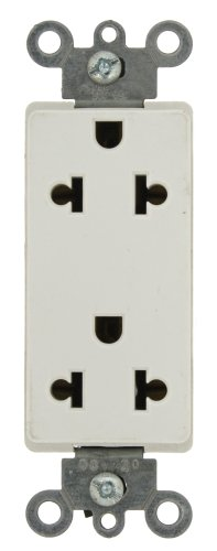 Leviton 5825-W 15-Amp-125/250-Volt, Decora Universal Duplex Receptacle, Back and Side Wired, White (Duplex Decora Leviton Receptacles)