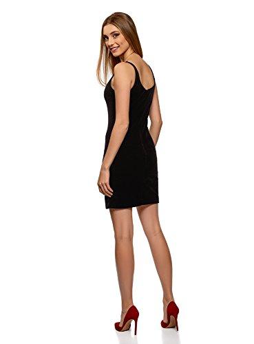 Velours Noir Dbardeur Robe Ultra en Femme 2900n oodji tPXYwY