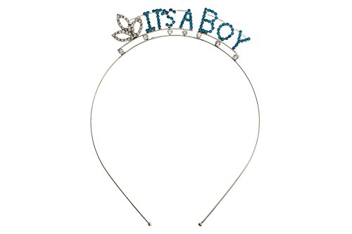 (Rosemarie Collections Women's Baby Shower Tiara Headband (It's A Boy))