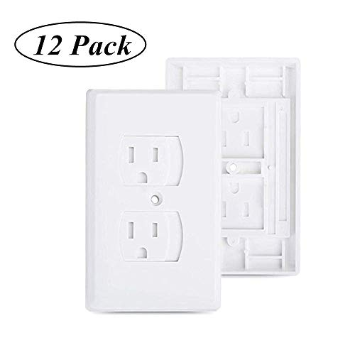 Baby Safety Electrical Outlet Cover - Self-Closing Outlet Covers Babyproofing Covers for Baby, Toddler and Children Safety BPA-Free (12 Pack)