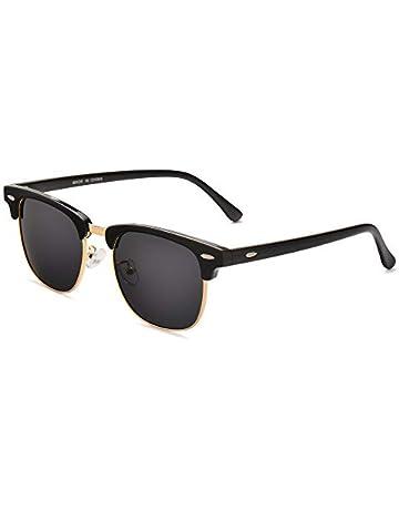 8480e54af27d Classic Polarized Semi Rimless Mens Sunglasses for Women, UV400 with case