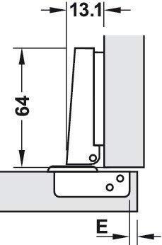 Gedotec Topfband Clip-Top 110/° Topfscharnier Eckanschlag G20 mit Schlie/ßautomatik /& Soft-Close D/ämpfung 10 St/ück M/öbelscharnier mit Montageplatte Kr/öpfung 0 mm