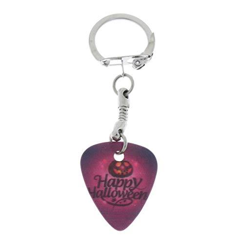 NATFUR Guitar Ukulele Bass Plectrum Luminous Pick with Round Ring Keychain Elegant Pretty Cute Perfect for Girls for Gift Elegant Pretty Beautiful Great Fine