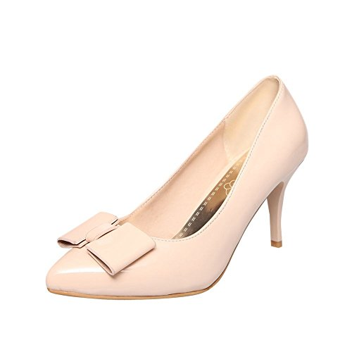 Latasa Para Mujer De Color Sólido Con Punta En Punta De Estilete De Tacón Alto Vestido De Zapatos De Albaricoque