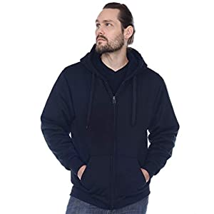 Gary Com Heavyweight Sherpa Fleece Hoodies for Men Full Zip Up Sweatshirt Long Sleeve Lined Active Jackets