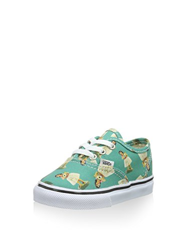 Vans Authentic, Unisex-Childs Low-Top Entrenadores turquesa