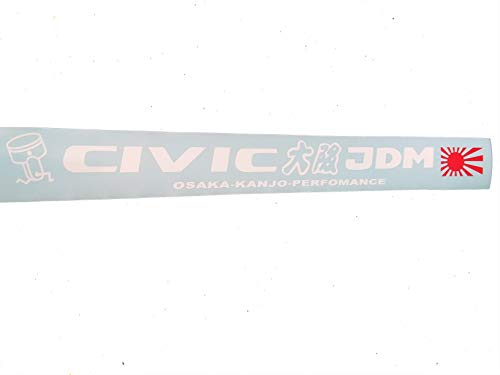 GY Vinyl Arts Honda Civic Osaka Kanjo Perfomance Windshield Side Decal Window Banner Car Sticker JDM (Jdm Honda Stickers)