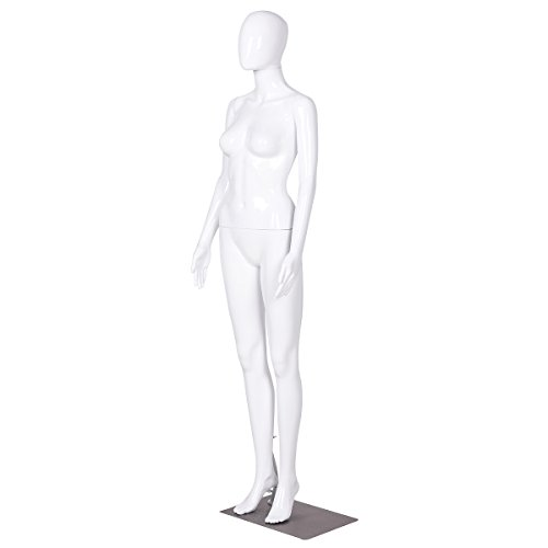 Bright White Giantex Female Half Body Mannequin Torso Dress Form Clothing Display Adjust Height /& Arms with Base
