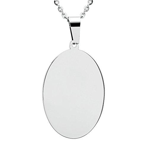 6c50e50bcc10 Gnzoe Joyería Acero Inoxidable Unisex Collar Oval Forma Colgante Señor Cadena  Cadena de Mujeres Gótico Cadena