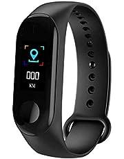 ساعة ذكية متعددة الوظائف، سوار ذكي ام 3 بشاشة 0.96 انش مع جهاز مراقبة لمعدل نبضات القلب ومتابعة ضغط الدم واللياقة البدنية، سوار معصم انيق مقاوم للماء