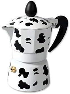 Ducomi - Cafetera expreso de aluminio, efecto vaca, con mango térmico para un café italiano cremoso y especial: Amazon.es: Hogar