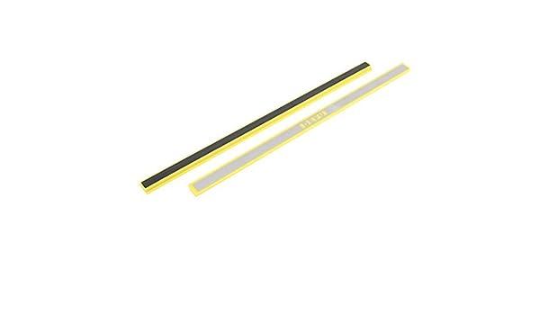 Amazon.com : eDealMax Escuela de pizarra bandas magnéticas Bares 30cm 2 piezas Amarillo tono de Plata : Office Products