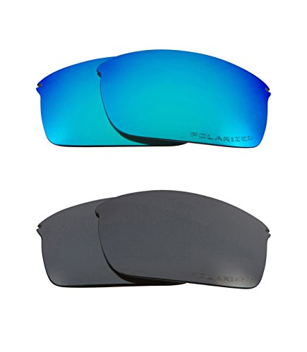 Best SEEK Replacement Lenses Oakley WIRETAP Polarized Black Iridium (Polarized Tap)