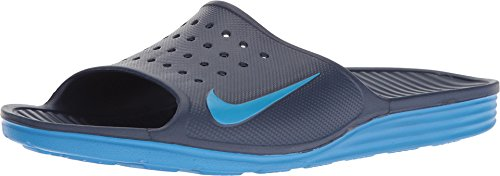 Nike Mens Solarsoft Slide Sandal (13 D(M) US, Binary Blue/Photo Blue)