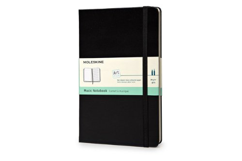 Moleskine Art Plus Music Notebook, Large, Black, Hard Cover (5 x 8.25) (Classic Notebooks)