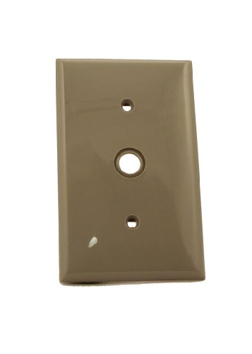 Leviton 80718 GY Telephone Wallplate Thermoplastic