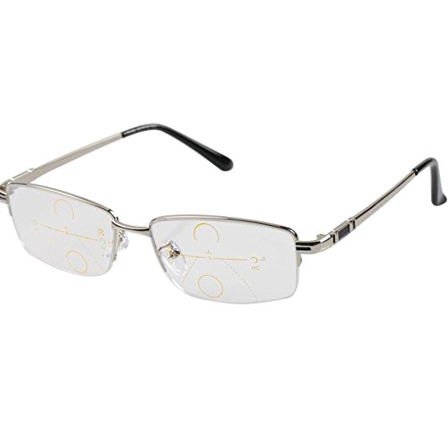 Meijunter Gradually Multifocal Reading Glasses See Far/Near Varifocal - Eyeglasses Vari