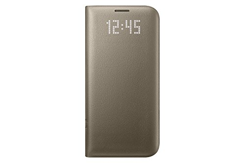 Samsung Galaxy S7 edge Case LED View Flip Cover  - Gold