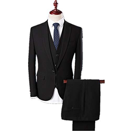Homme Costume D'affaires Black Pour Et De Marié Trois Pièces Costumes Loisirs fYrwCfxqS